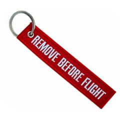 "Keychain ""Remove Before Flight"""