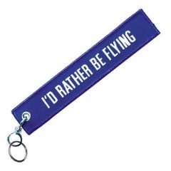 I'd Rather Be Flying Embroidered Keychain