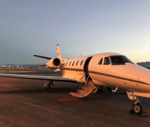 Private Air charter plane